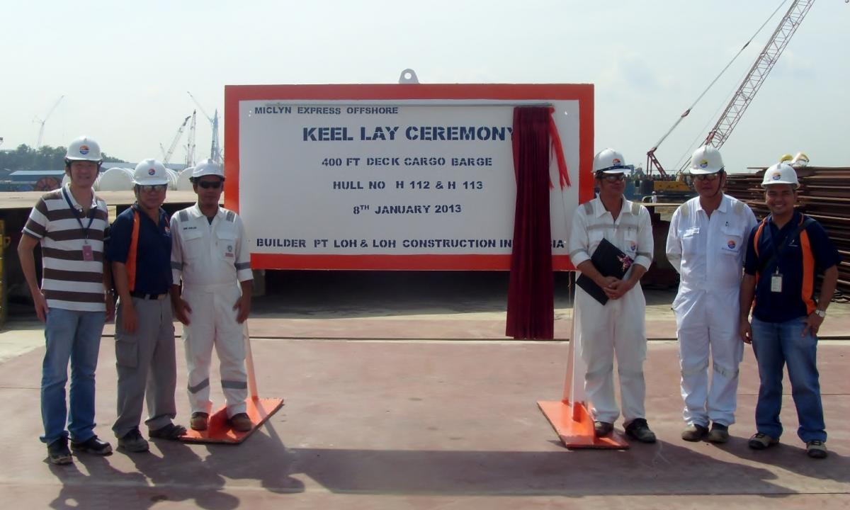 MEO lays keel for for 400ft cargo barge